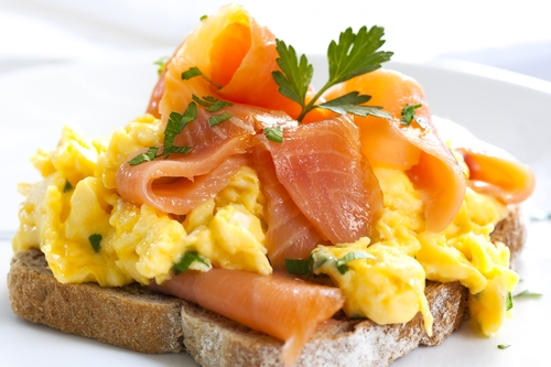 Scrambled Egg & Salmon